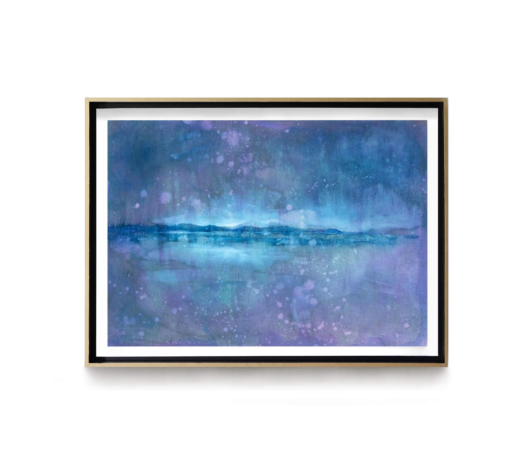 Paysage_violet_65x48cm_acrylique_et_encre_sur_carton_encadre_chene_lightbox