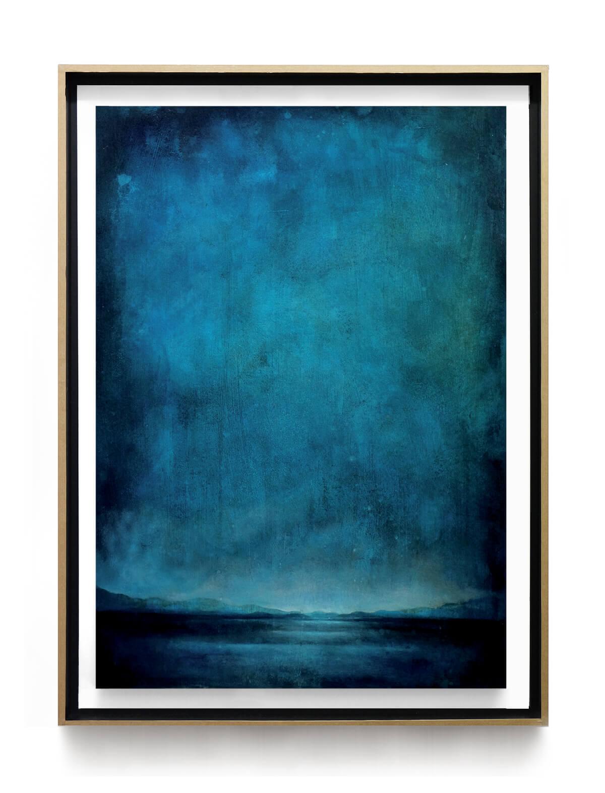 paysage_bleu_nuit_80x60cm_acrylique_et_encre_sur_carton_encadre_lightbox
