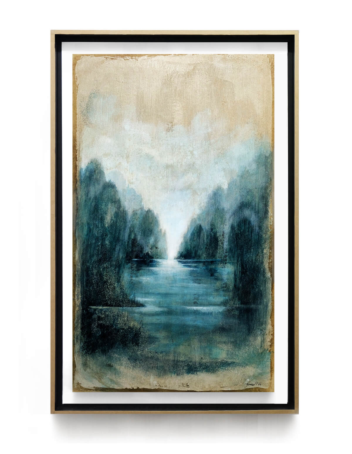 paysage_riviere_60x35_cm_acrilyque_et_encre_encadre_lightbox